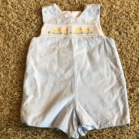 6908ce6b7 Bailey Boys One Pieces   Embroidered Duck Romper   Poshmark